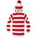 Adult Costume Red and White Striped T-Shirt Halloween Cosplay Costume