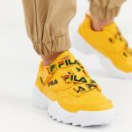 Fila Fast Charge trainer with logo straps in yellow