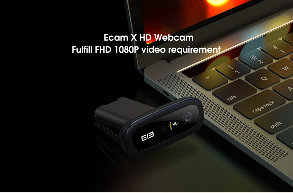 geekbuying Elephone Ecam X 1080P HD Webcam 5 0 MegaPixels Black 852893