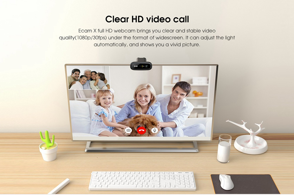 geekbuying Elephone Ecam X 1080P HD Webcam 5 0 MegaPixels Black 852894