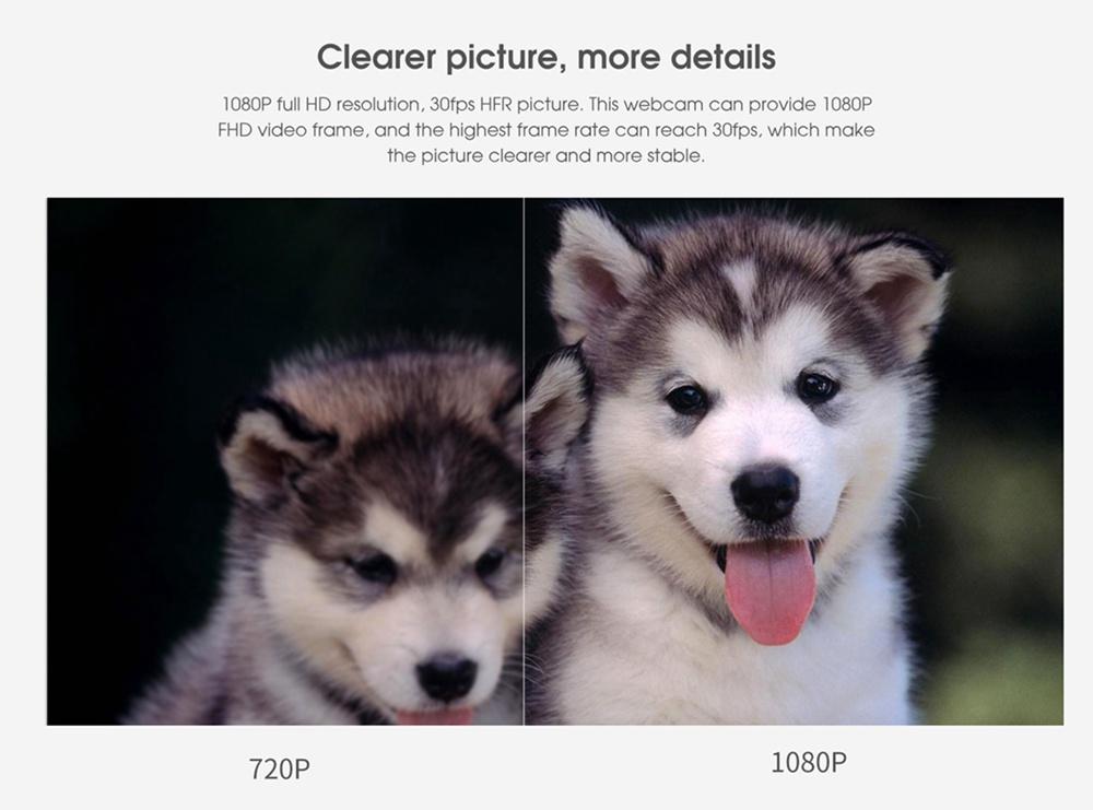 geekbuying Elephone Ecam X 1080P HD Webcam 5 0 MegaPixels Black 852895