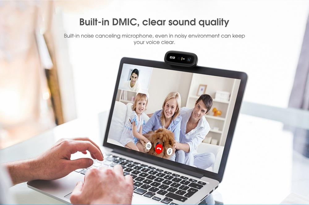 geekbuying Elephone Ecam X 1080P HD Webcam 5 0 MegaPixels Black 852896