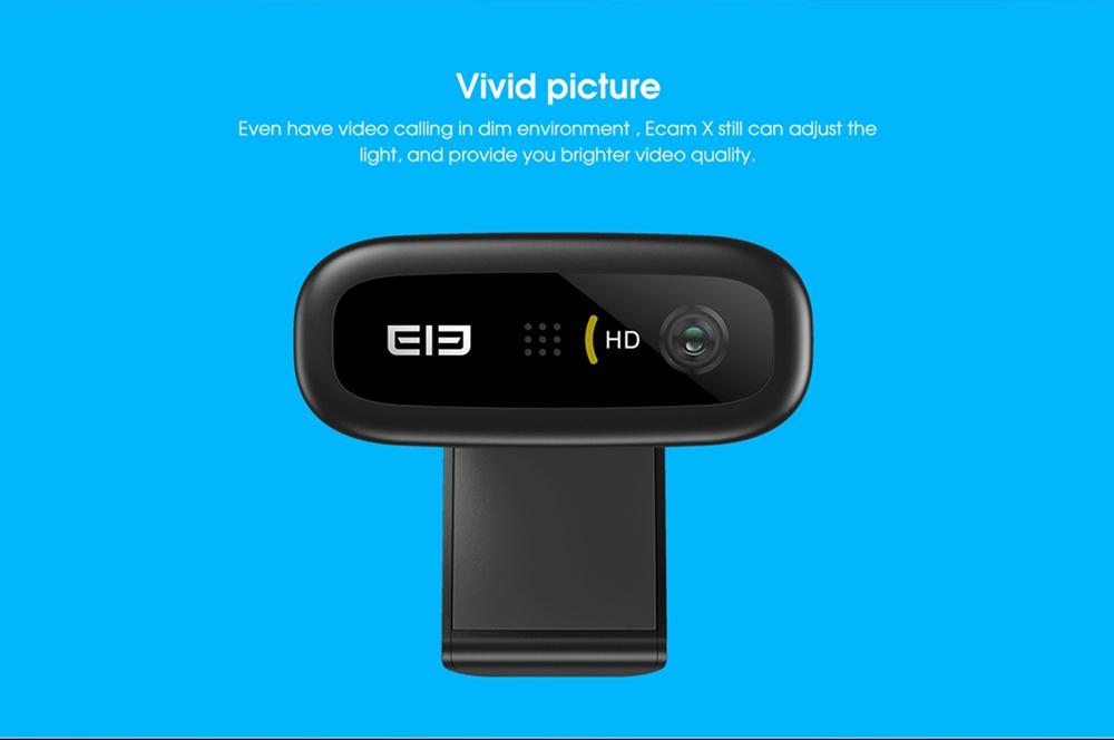 geekbuying Elephone Ecam X 1080P HD Webcam 5 0 MegaPixels Black 852897