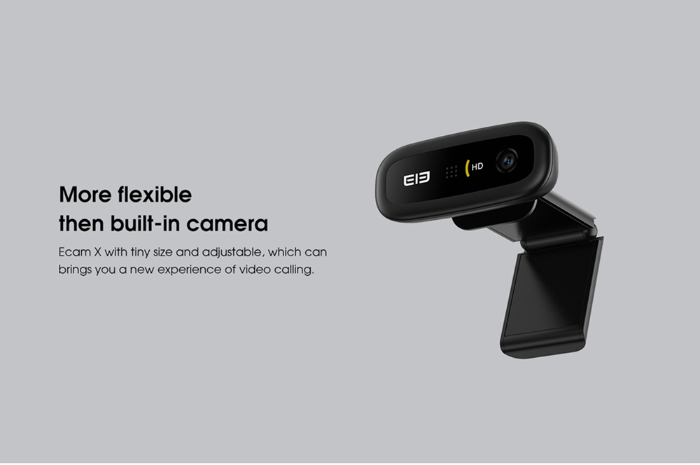 geekbuying Elephone Ecam X 1080P HD Webcam 5 0 MegaPixels Black 852899