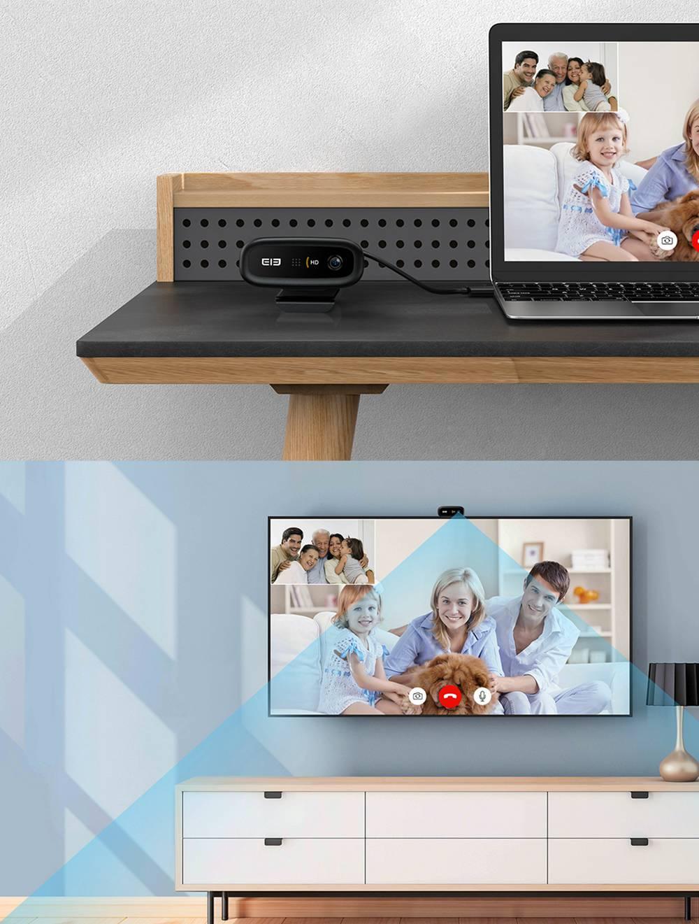 geekbuying Elephone Ecam X 1080P HD Webcam 5 0 MegaPixels Black 852902