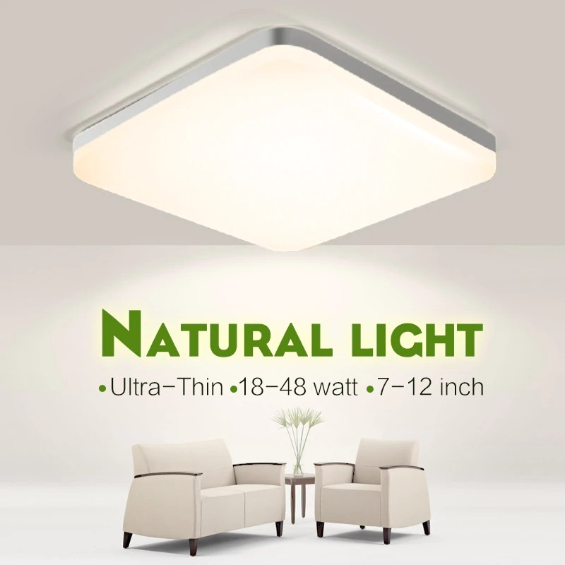 img 1 LED ceiling lights for room 18W 24W 36W 48W Cold Warm White Natural light LED