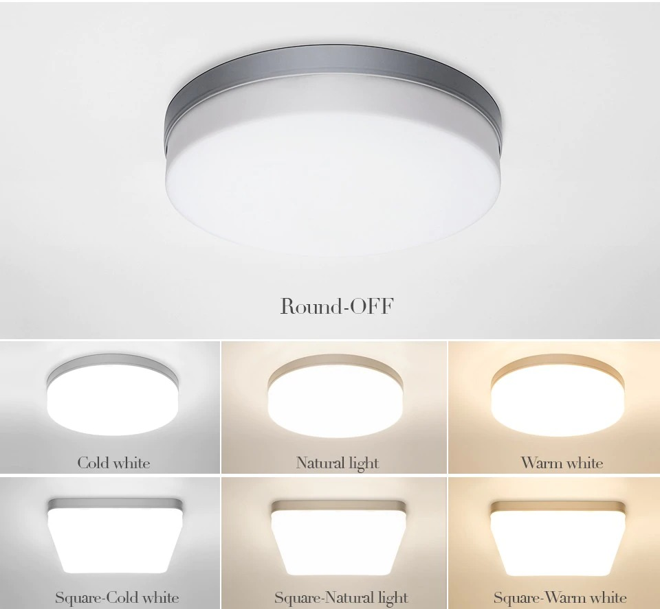 img 2 LED ceiling lights for room 18W 24W 36W 48W Cold Warm White Natural light LED