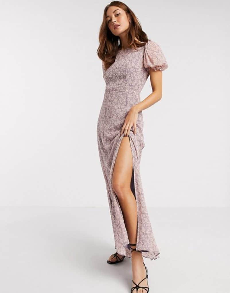 שמלת שיפון אופנתית ASOS