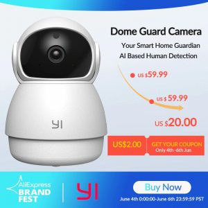 img 0 YI Dome Guard Camera 1080P FHD Night Vision 360 Degree Coverage Motion Human Detection Baby Crying