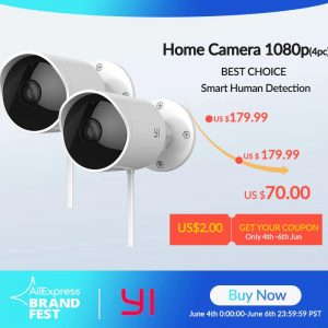 img 0 YI Outdoor Security Camera 1080P FHD 2 4G Wi Fi IP Waterproof Night Vision Surveillance System