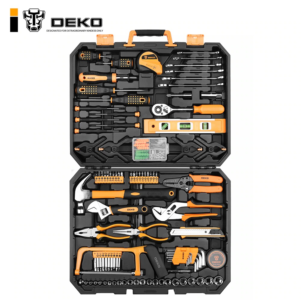 img 1 DEKO DKMT168 Socket Wrench Tool Set Auto Repair Mixed Tool Combination Package Hand Tool Kit with