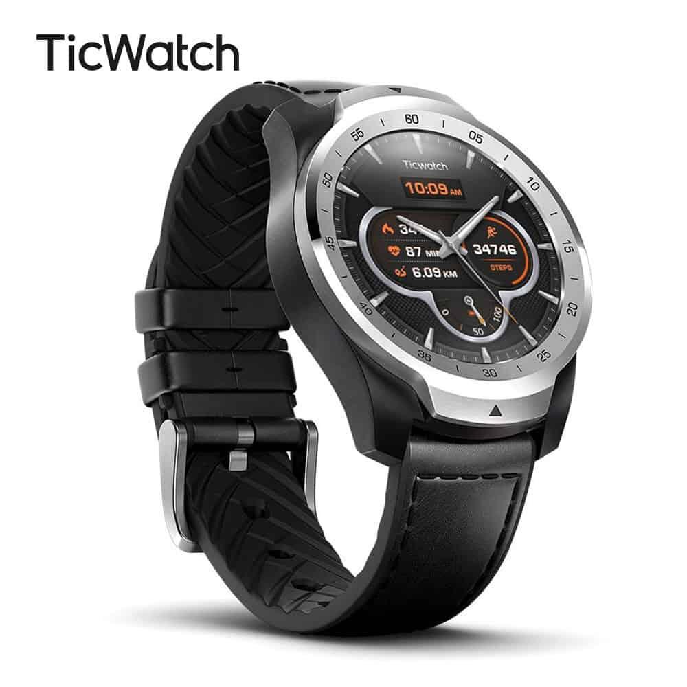 img 1 TicWatch Pro reloj inteligente versi n Global con el desgaste OS por Google para iOS y