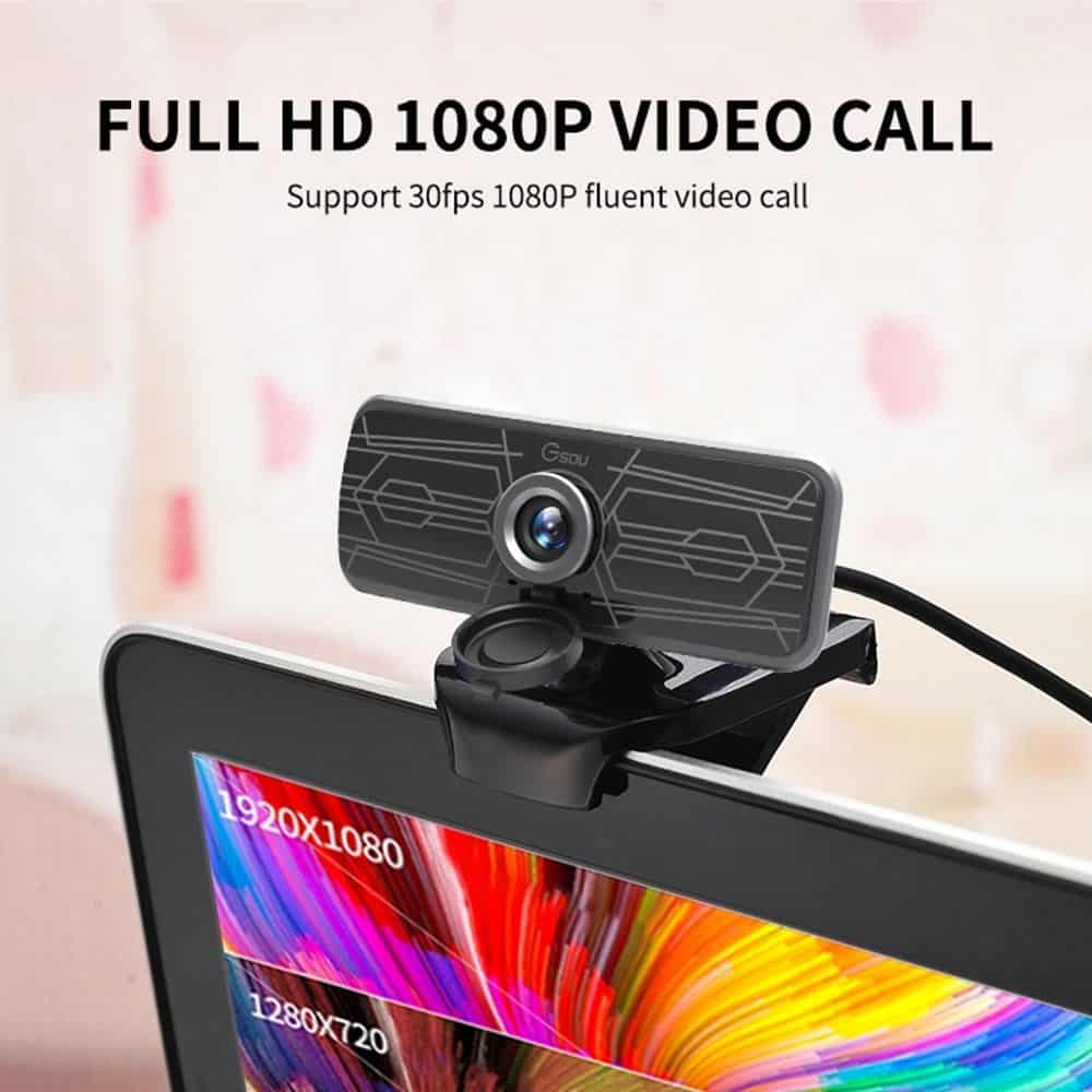 geekbuying Gsou T16s 1080P HD Webcam Built in Microphone Black 852678