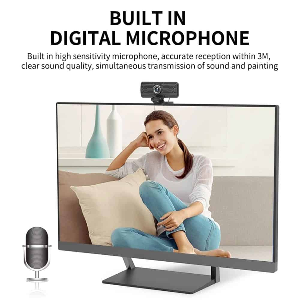 geekbuying Gsou T16s 1080P HD Webcam Built in Microphone Black 852681
