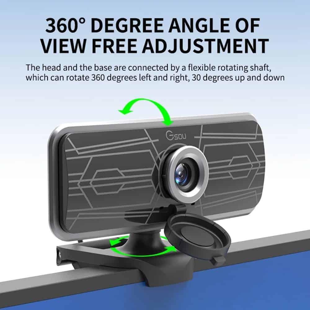 geekbuying Gsou T16s 1080P HD Webcam Built in Microphone Black 852682