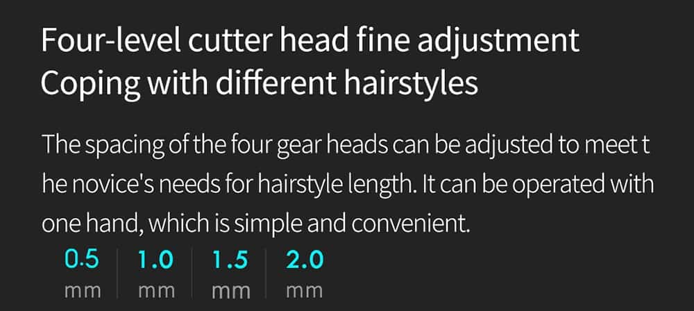 geekbuying RIWA Washable Hair Trimmer LED Display 860802