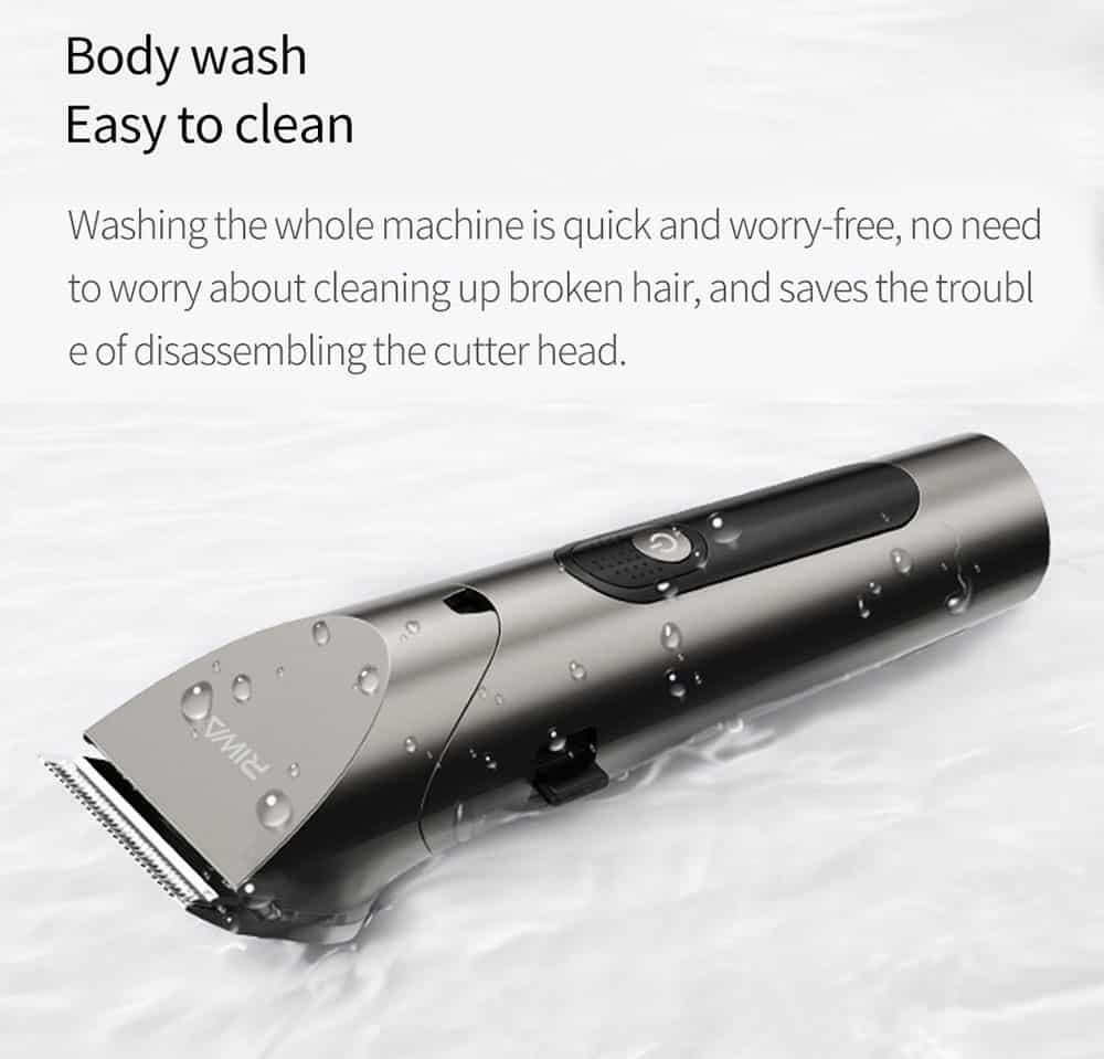 geekbuying RIWA Washable Hair Trimmer LED Display 860804