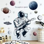 US $2.82 47% OFF|Space Astronaut Wall Stickers for Kids Room Boy Room Decoration Planets Wall Decals Decorative Stickers Bedroom Mural Wallpaper|Wall Stickers|
