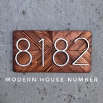 US $5.68 32% OFF|127mm Big House Number Huisnummer Hotel Home Door Number Outdoor Address Numbers for House Numeros Puerta de la casa hausnummer|Door Plates|