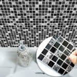 US $7.72 42% di SCONTO|Funlife Autoadesivo Mattonelle di Mosaico Autoadesivo Della Parete Cucina Bagno Decorazione Della Parete Del Vinile Adesivi Impermeabile Peel Stick PVC Piastrelle Pannello|wall sticker|tile stickersmosaic tile stickers