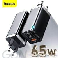 Baseus 65W GaN Charger – מטען Quick Charge 4.0 וUSB-C PD 65W + כבל USB-C 100W במתנה! רק ב$26.41