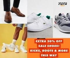 גברים תתפנקו עם אקסטרה 20% הנחה על כל הנעליים בSALE בASOS! נייק, אדידס, פומה, ניו באלאנס, ריבוק ועוד!