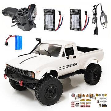 מכונית – טנדר על שלט רחוק – WPL C24 1/16 2.4G 4WD Crawler  רק ב$48.47!