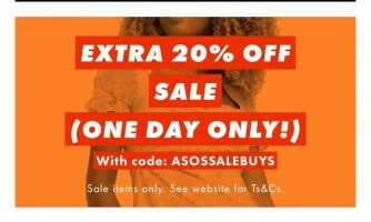 רק היום – כפל הנחות מטורף! קופון 20% הנחה על כל הSALE (עד 70%) בASOS!