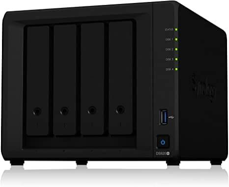 """שרת גיבוי +Synology 4 bay NAS DiskStation  DS920 רק ב$610.93 / 2069 ש""""ח! (בזאפ הדגם הישן יותר נמכר ב3,259 – 2,750 ₪!)"""