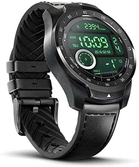 """TicWatch Pro 2020! שעון חכם עם 2 מסכים וANDROID WEAR ב$241.50 / כ815 ש""""ח  (בזאפ ₪999)"""