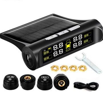 לבטיחות שלכם! מערכת TPMS לשמירה על לחץ אוויר תקין בצמיגים – עם טעינה סולארית – במחיר לחטוף! רק ב$15.99!