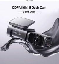 DDPai Dash Cam Mini5 4K – מצלמת רכב איכותית במיוחד עם 4K, זיכרון מובנה 64GB, GPS וWIFI 5GHZ רק ב$116.19