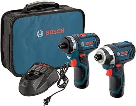 """דיל קודח! סט קומבו Bosch CLPK27-120 עם 2 מברגות-מקדחות/אימפקט 12V של בוש עם 2 סוללות, מטען ותיק – רק ב533 ש""""ח!"""