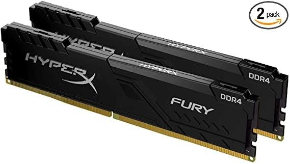 HyperX Fury 16GB 3200MHz DDR4 CL15 DIMM (Kit of 2) 1Rx8 Black XMP Desktop Memory HX432C16FB3K2/16: Computers & Accessories
