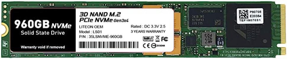 כונן NVME טרה מאמזון מתחת לרף המס! Timetec Liteon 960GB NVMe PCIe Gen3x4