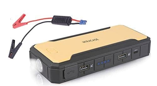 סוללת חירום ניידת להתנעת הרכב Miracase 12000mAh PowerBank USB – רק ב₪232!