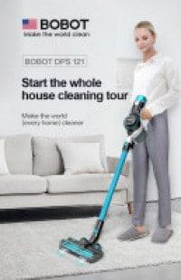 בלעדי! שואב אבק אלחוטי חדש בישראל! BOBOT DPS121 – רק ב₪1,099!