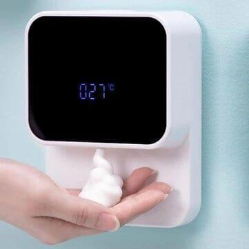 חדש! Xiaowei X5s – דיספנסר מקציף סבון אוטומטי הנצמד לקיר + מד טמפרטורה רק ב $17.77!