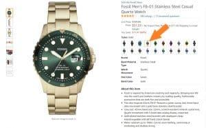 שעון יד פוסיל לגבר