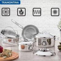 סט סירי נירוסטה – 7 חלקים Tramontina Allegra רק ב₪279! (מתאים לכל סוגי הכיריים)