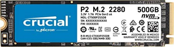 "כונן Crucial P2 500GB 3D NVMe PCIe M.2 SSD רק ב194 ש""ח! (בזאפ 346 ₪)"