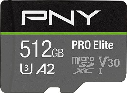 """כרטיס זיכרון מהיר בנפח ענק ללא מס! PNY 512GB PRO Elite רק ב283 ש""""ח כולל משלוח!"""
