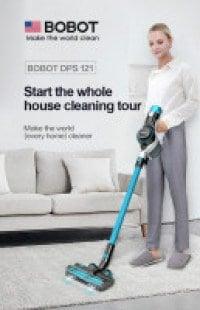 שואב אבק אלחוטי מומלץ – BOBOT DPS121 – רק ב₪1,099 עם משלוח חינם!