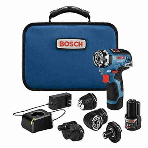 האולר השוויצרי של הכלים! Bosch GSR12V Max EC Brushless Flexiclick – מברגה/מקדחה 5 באחד! עם 5 ראשים מתחלפים, 2 סוללות, מטען ותיק רק עם כפל קופונים והנחות רק ב₪966!
