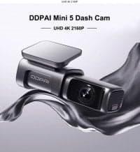 DDPai Dash Cam Mini5 4K – מצלמת רכב איכותית במיוחד עם 4K, זיכרון מובנה 64GB, GPS וWIFI 5GHZ רק ב$96
