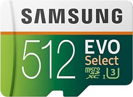 """כרטיס הזיכרון הכי מומלץ Samsung EVO Select נפח 512GB בצניחת מחיר! רק $74.07 / 248 ש""""ח"""