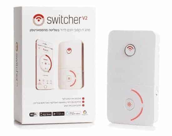 מקלחת חמה?…Switcher! מתגים חכמים לדוד ושקעים חכמים במחירים חמים! Switcher V2 רק ב₪167!  V2 TOUCH רק ב₪197!