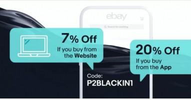 BLACK FRIDAY גם בeBay עם קופון 7% הנחה לקנייה באתר ו20% הנחה לקנייה מהאפליקציה!