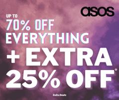 טירוף בASOS! אקסטרה 25% הנחה על אלפי פריטים שכבר בעד 70% הנחה!