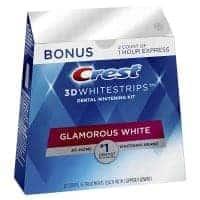 ערכת הלבנת שיניים 32 Crest 3D Whitestrips Glamorous White רק ב₪133!